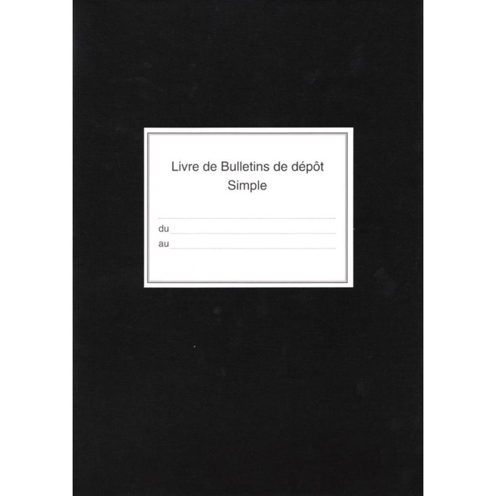 Registre bulletins de depot simple 310x210 252 p. noir