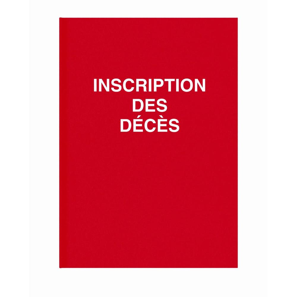 Registre de décès 3 avis par page folioté de 1 à 99 100pages 24x32cm Rouge