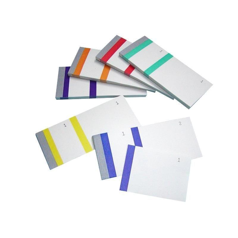 Carton de 400 blocs Vendeur 60 x 135 mm Coloris Assortis