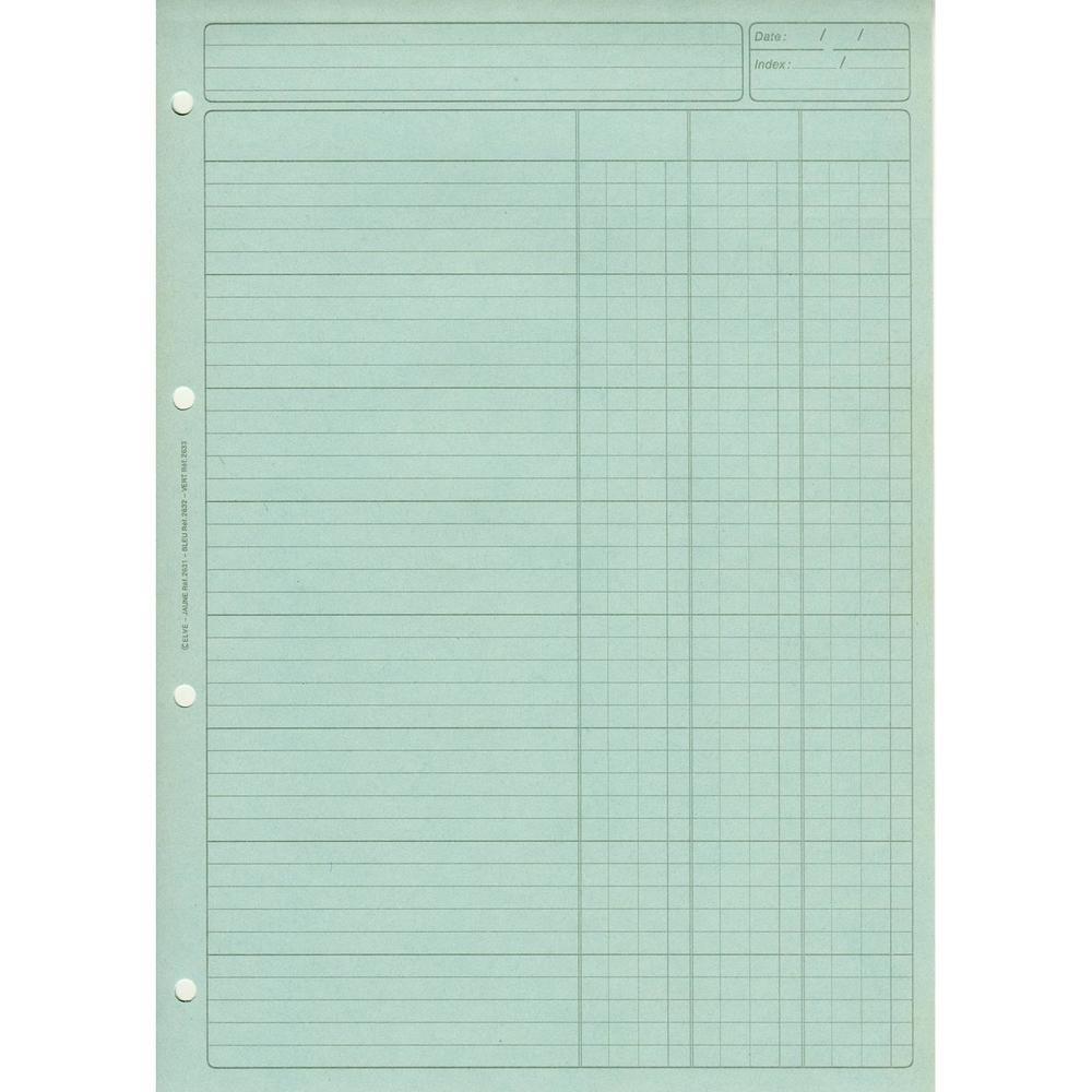 Bloc audit 3 colonnes + en-tête 297 x 210 cm bleu