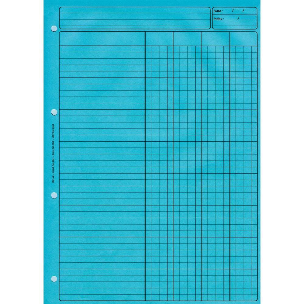 Bloc Audit 4 Colonnes + entête 297X210 80 Pages Bleu