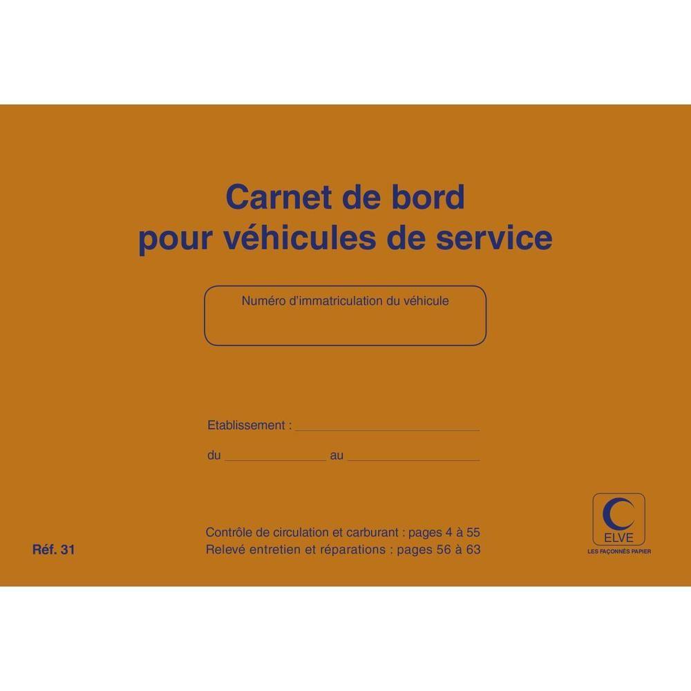 Carnet de Bord pour Véhicules de Service 64 Pages 150 x 215 mm Orange