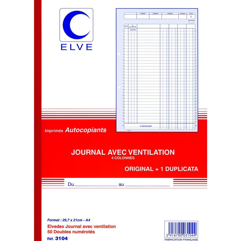 Journal avec ventilation 4col 297x210 50/2+0 manifold