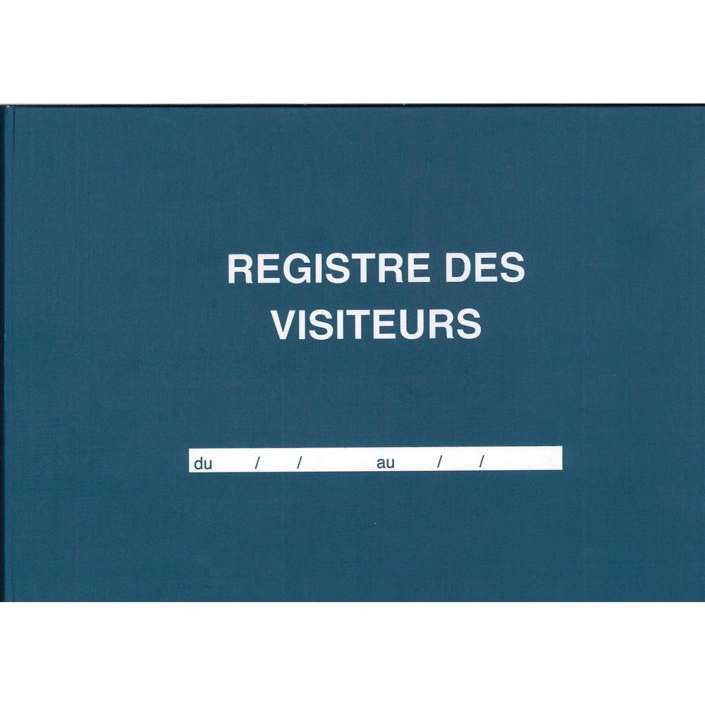 Registre des visiteurs 96 pages 210 x 297 horizontal
