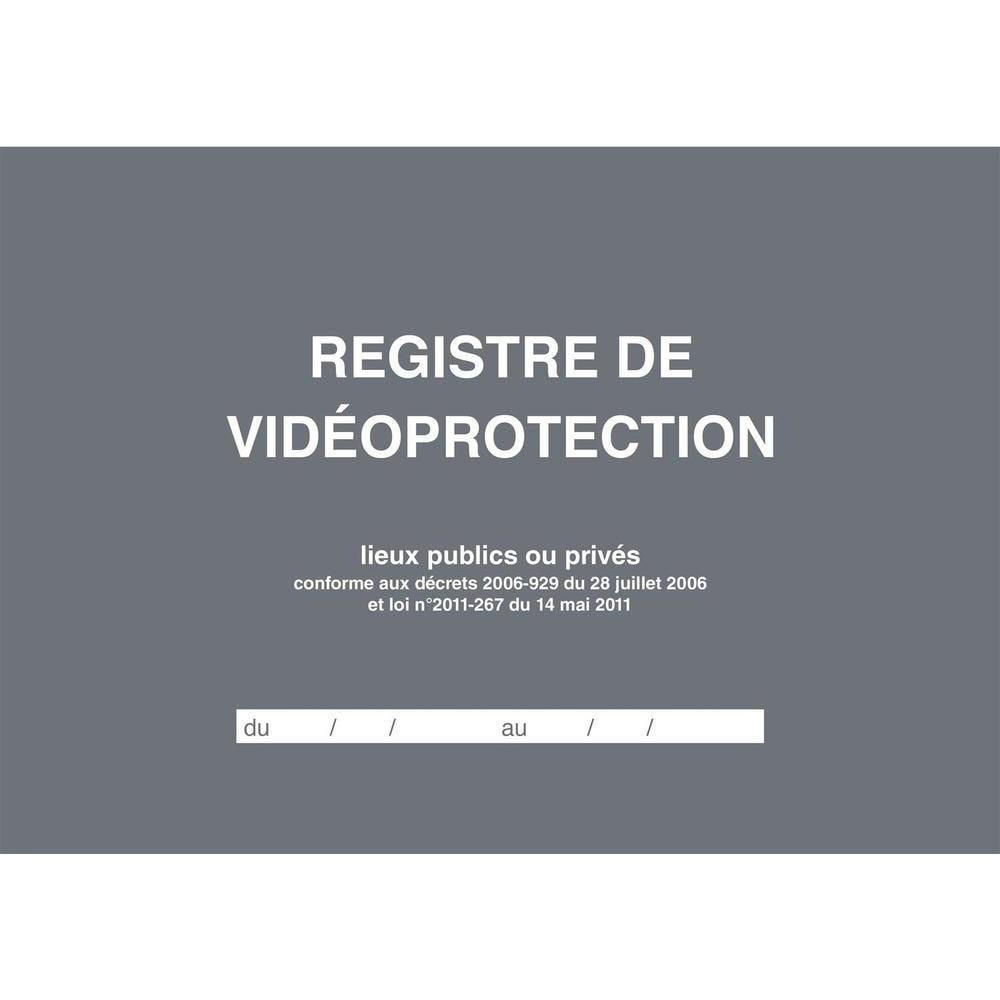 Registre de Vidéoprotection A4 21x29,7 à l'italienne 104 pages