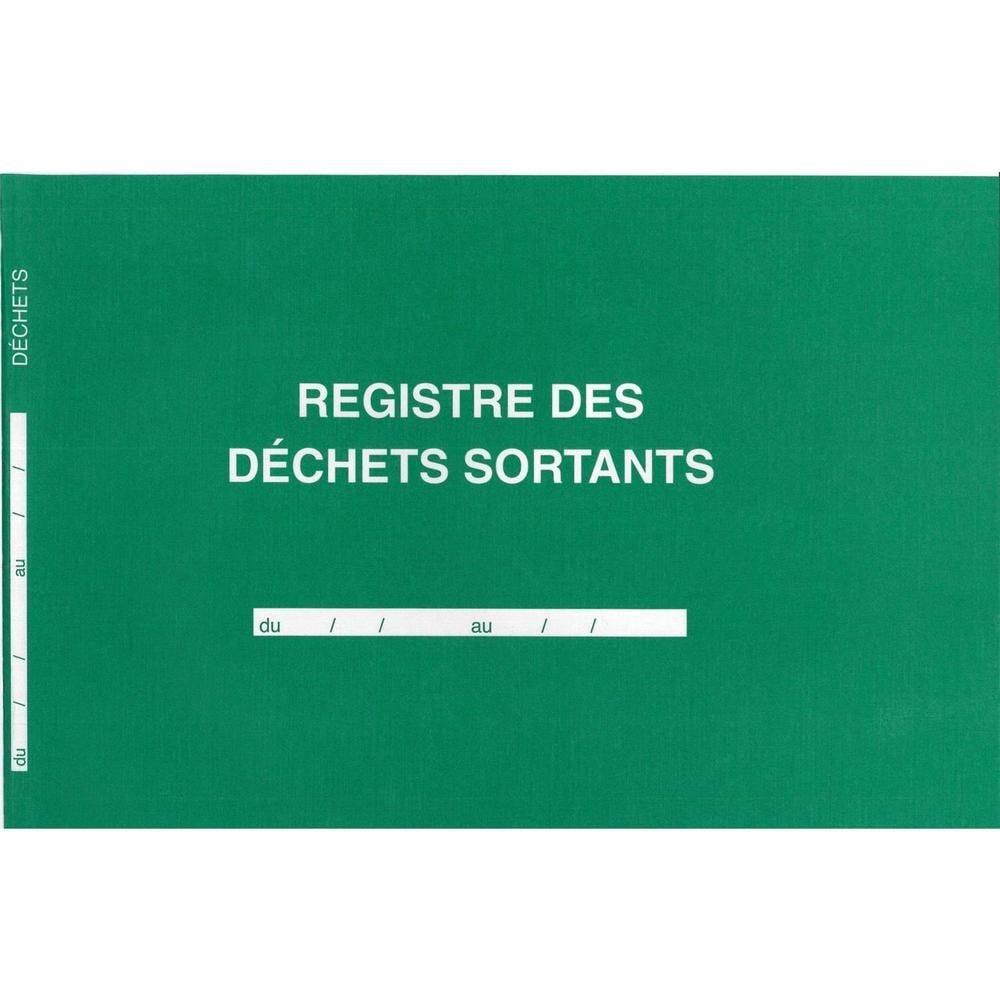 Registre des déchets sortants 210 x 297 horizontal 108 pages