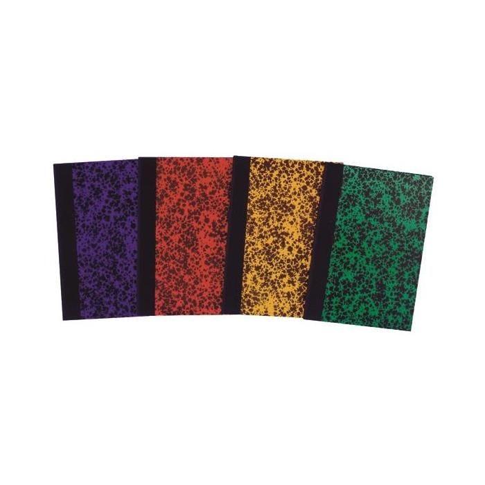 Registre couverture marbrée - ligné et folioté - 29,7 x 21cm - 200 pages
