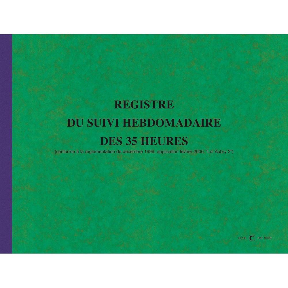 Registre du Suivi Hebdomadaire du Temps de Travail 108 pages format 240 x 320