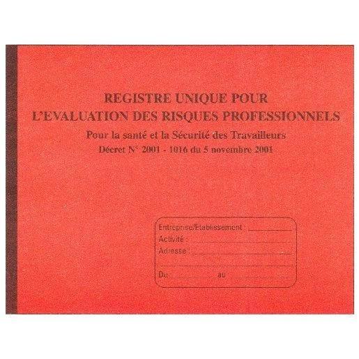 Registre d'évaluation des risques Professionnels 24 x 32 cm 80 pages