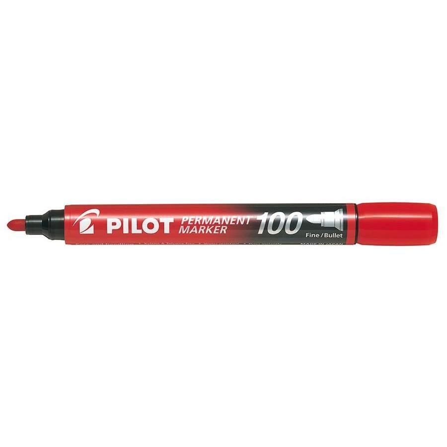 Marqueur Permanent SCA 100 Pte Ogive Fine / Moyenne Rouge