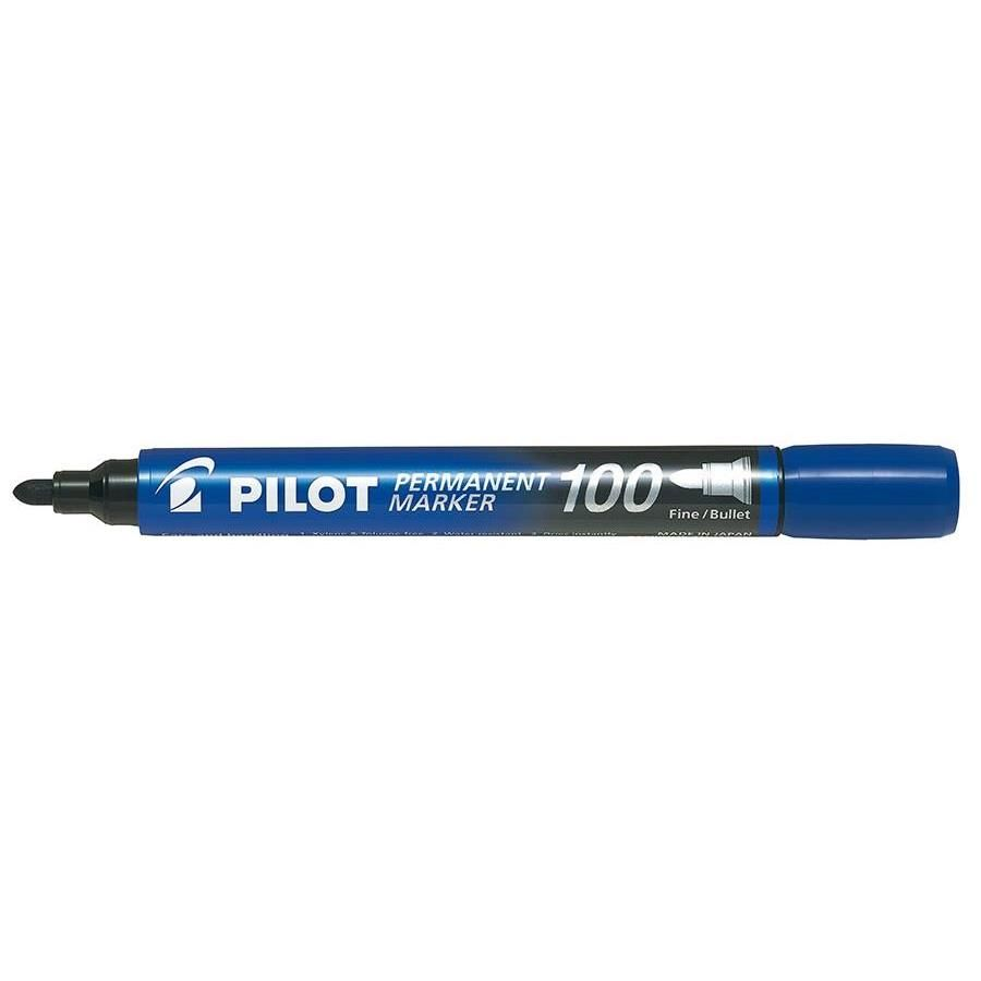Marqueur Permanent SCA 100 Pte Ogive Fine / Moyenne Bleu