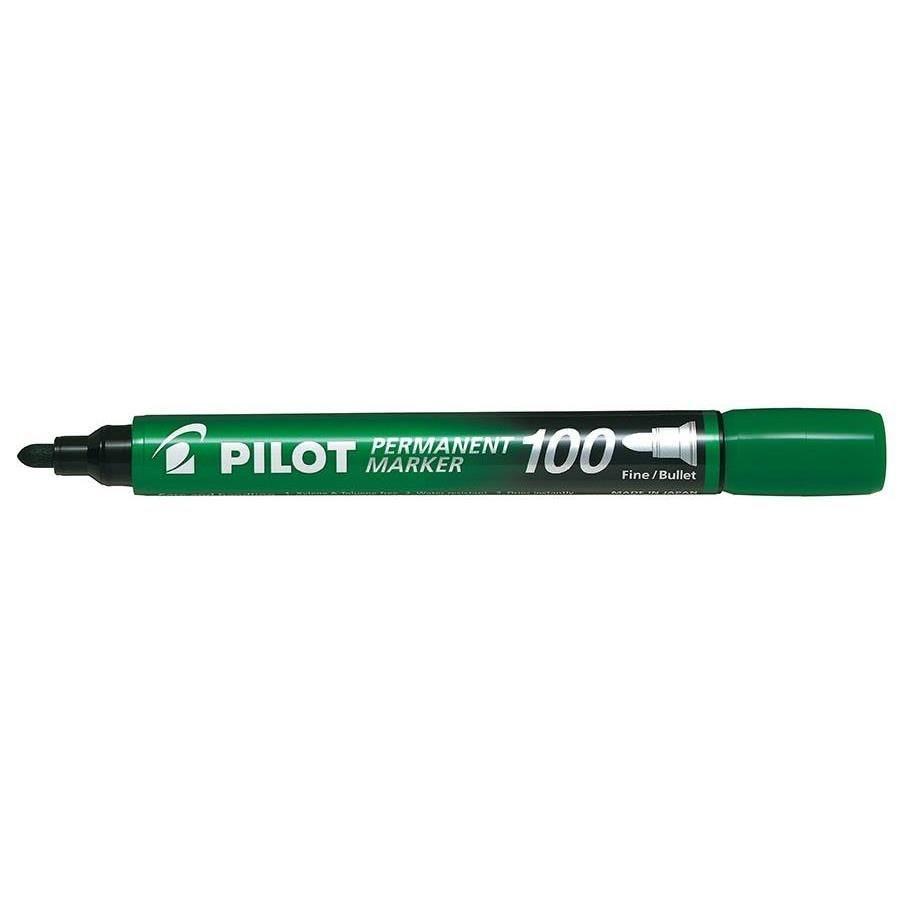 Marqueur Permanent SCA 100 Pte Ogive Fine / Moyenne Vert