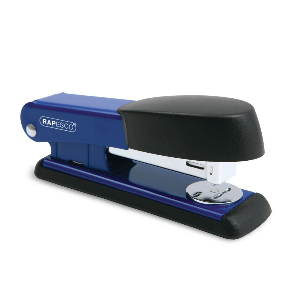 Agrafeuse Bowfin 535 Demi-Bande Éco 26/6 mm 25 Feuilles Bleu