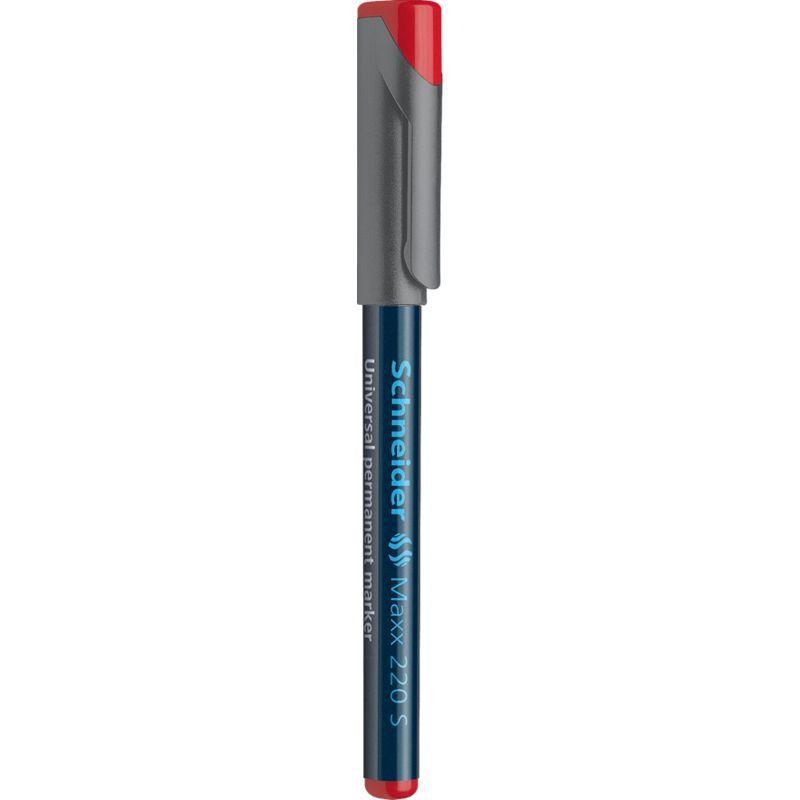Marqueur universel Maxx 220 Pte Super Fine Permanent rouge