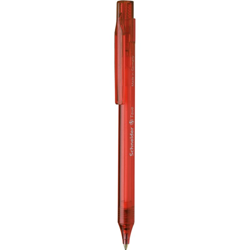 Stylo à bille Fave rouge Pte Moyenne rouge