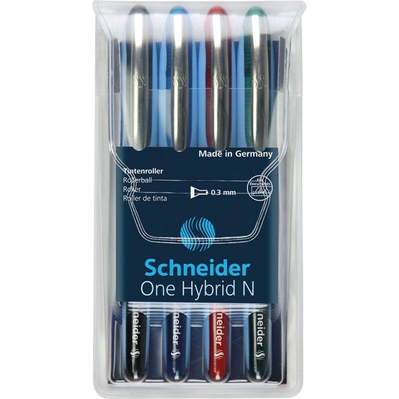 Pochette de 4 stylos Roller à encre One Hybrid N Pte Aiguille 03 Multicolore