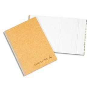 Registre corrige couverture noire 21x29,7 cm 300 pages quadrillé 5x5