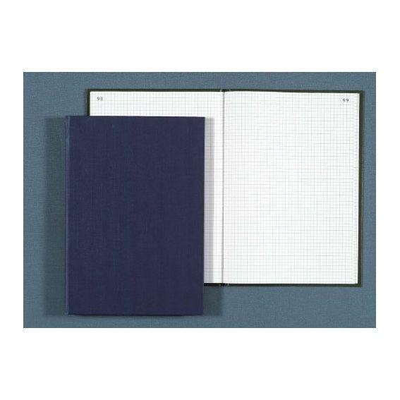 Registre corrige couverture noire 22,5x35 cm 200 pages quadrillé 5x7