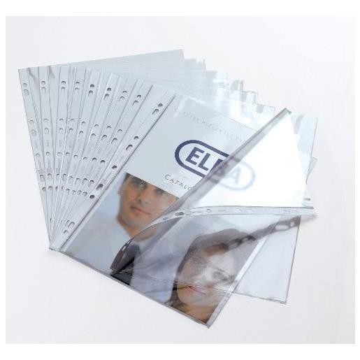 Boîte de 100 pochettes perforées Cartofix en PVC 8/100e, perforation 9 trous - b