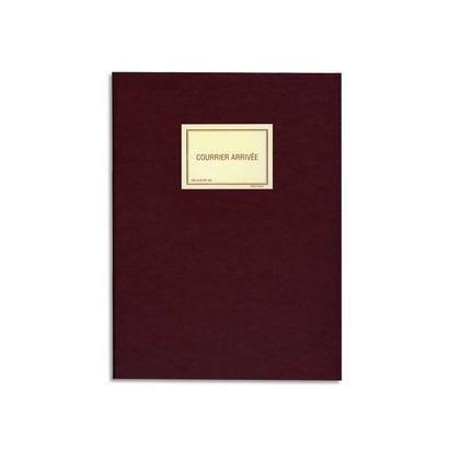 Registre courrier arrivée 150 pages 25x32cm Toilé Vert