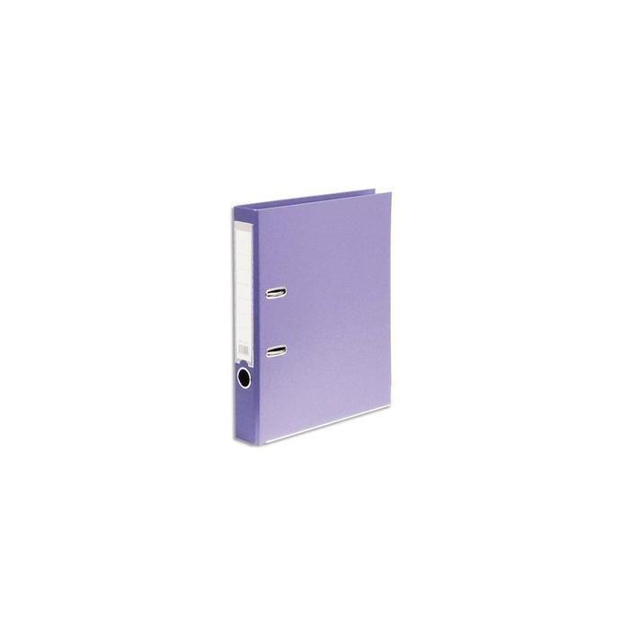 Classeur à levier en polypropylène intérieur/extérieur Format A4. Coloris violet