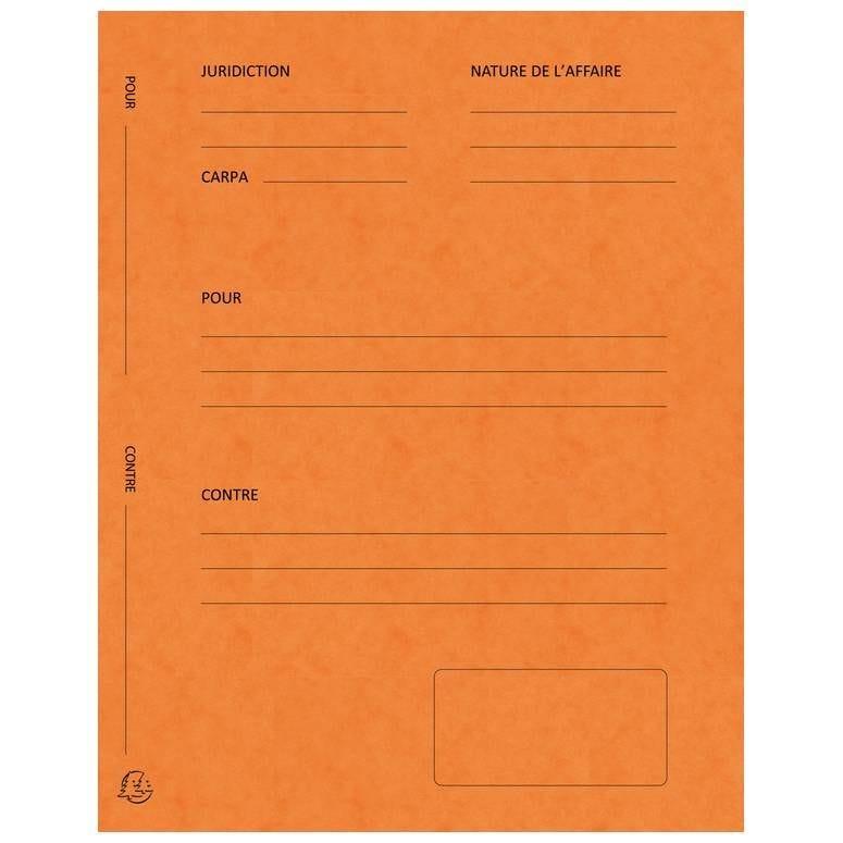 Chemises Avocat imprimées Plaidoirie 265g Orange - Paquet de 25