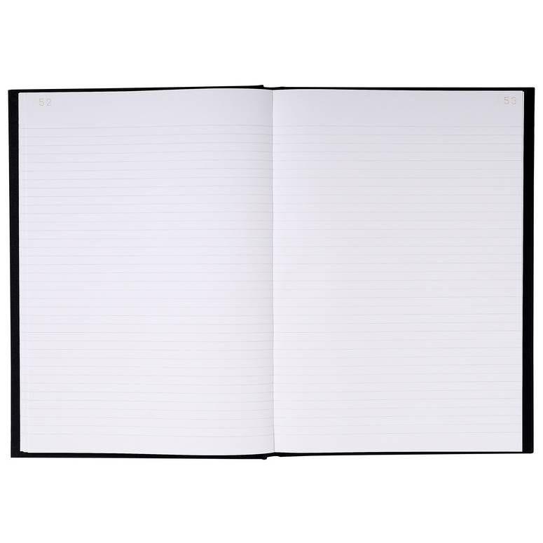 Registre 297X210 Travers 200 pages foliotées Noir toilé