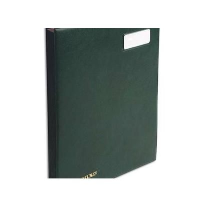 Parapheur 24 compartiments vert, couverture en PVC expansé