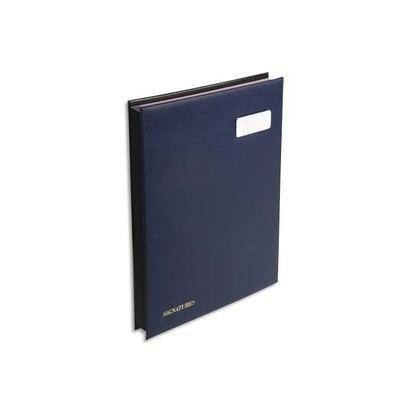 Parapheur 24 compartiments bleu, couverture en PVC expansé