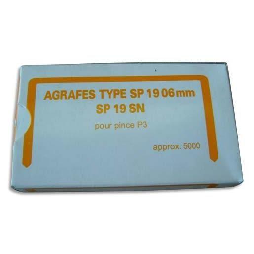 boîte de 5000 Agrafes NºSP 19 06 pour P3