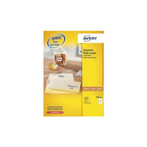 Boîte de 800 Étiquettes multi usages 105 x 70 mm blanches