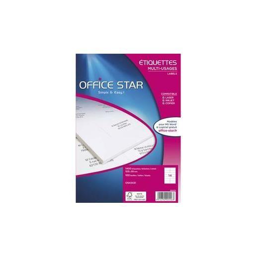 Boîte de 600 Étiquettes multi-usage blanches 99,1 x 93,1 mm