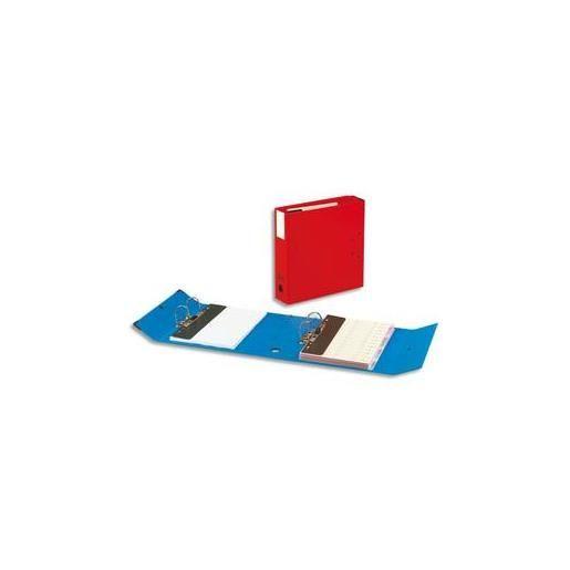 Classeur à deux leviers Millex en PVC intérieur et extérieur rouge,dos de 9.5cm