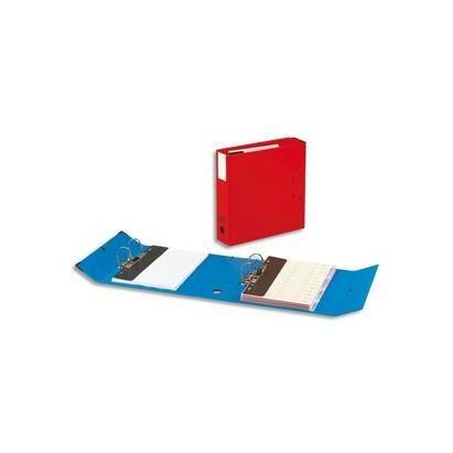 Classeur à deux leviers Millex en PVC intérieur et extérieur bleu, dos de 9.5cm