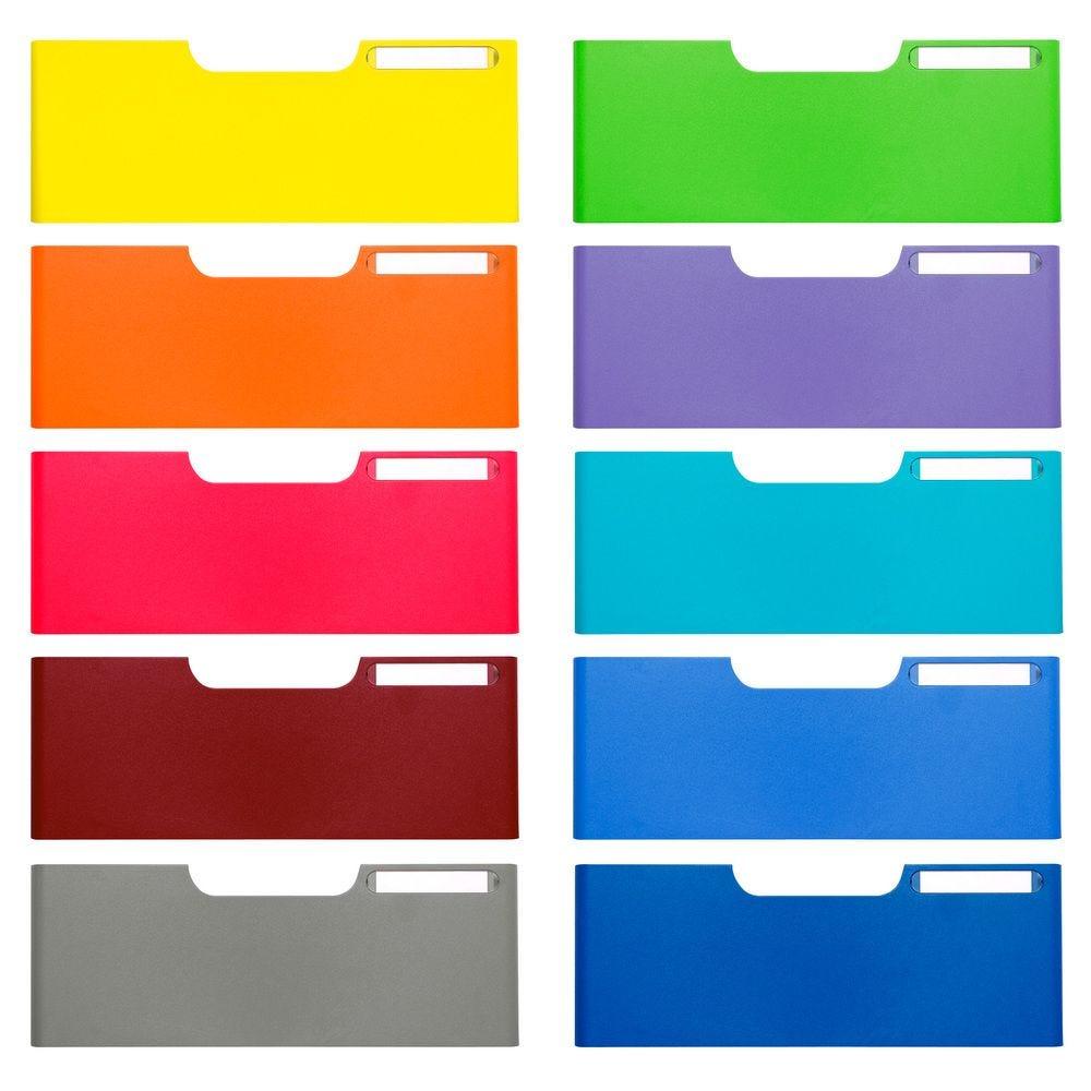 Frontons A4 taille jumbo 50mm (coloris assortis) Classic - Set de 10