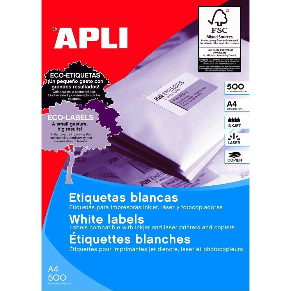 Boite de 500 Feuilles A4, 12000 Étiquettes Multi-usages Permanent 70x35 mm Blanc