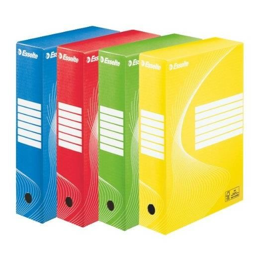 Boîtes archives BOXYCOLOR Dos de 80mm A4 couleurs assorties - par lot de 10
