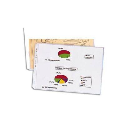 Pochettes format A3 à ouverture en coin en polypropylène 9/100e - Sachet de 10
