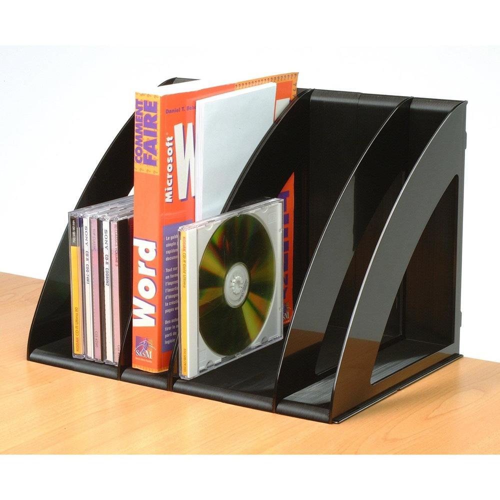 Trieurs verticaux modulable Confort noir - Par lot de 6