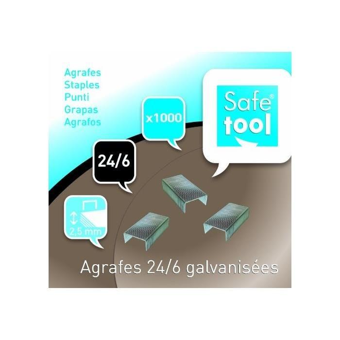 Boîte de 1000 Agrafes N° 24/6 galvanisé Capacité d'agrafage 2.5 mm