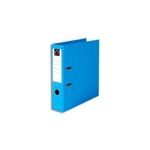Classeur à levier dos de 8cm plastifié bleu clair
