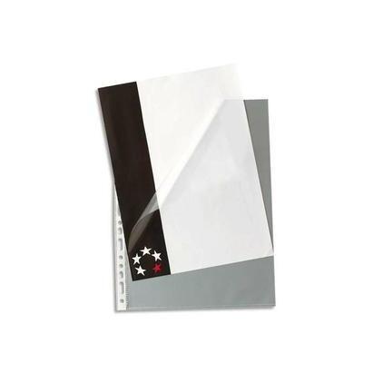 Boîte de 100 pochettes à ouverture en coin en polypropylène 9/100e, perforati… -