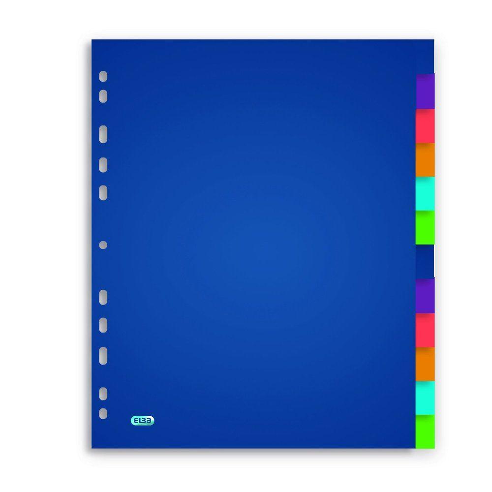 Intercalaire SCHOOL LIFE 12 touches Polypro translucide A4 Maxi