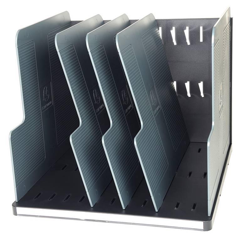 Trieur vertical MODULOTOP Ecoblack avec 5 intercalaires P 30cm L 29 cm Noir /…