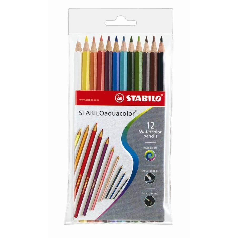 Etui de 12 crayons de couleur Aquacolor Assortis