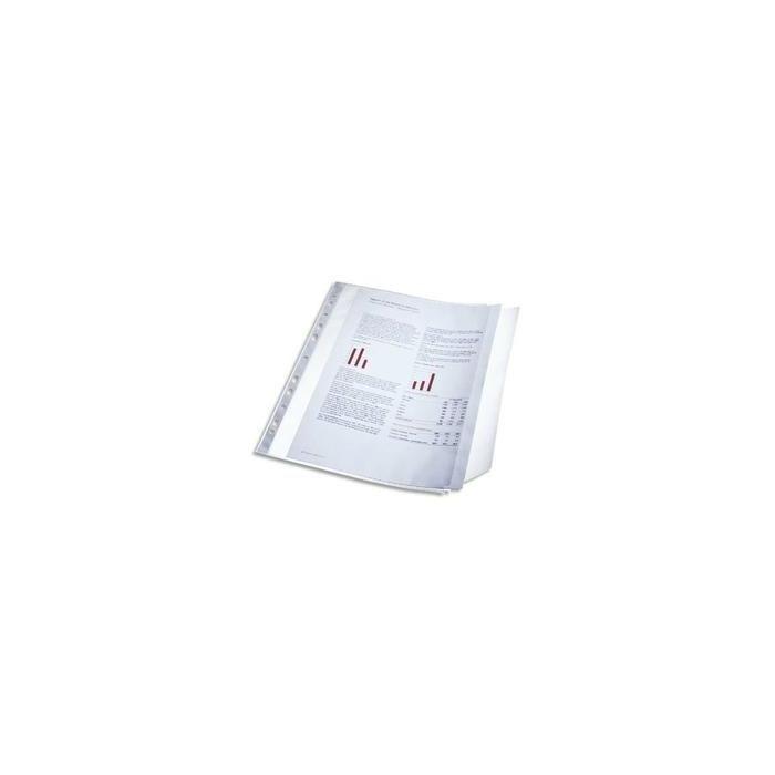 Pochettes perforées à Rabat Cap 40 feuilles 11 trous Transparent - Sachet de 10