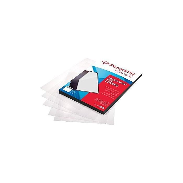 Boite de 100 Couverture PVC pour Reliure A4 180 Mic Transparente - boîte de 100