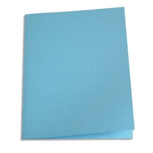 Chemises carte recyclée 180 grammes coloris bleu clair - Paquet de 100