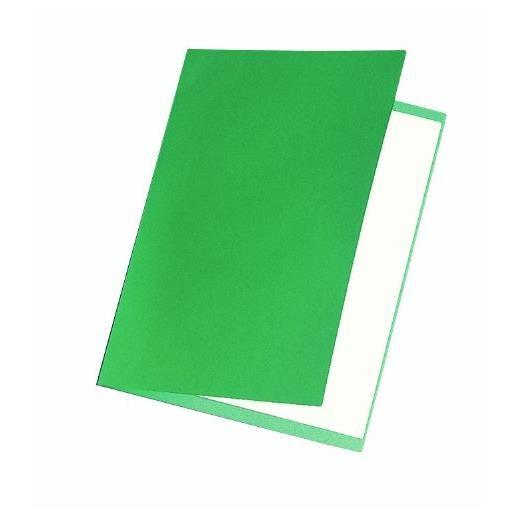 Chemises carte recyclée 180 grammes coloris vert - Paquet de 100