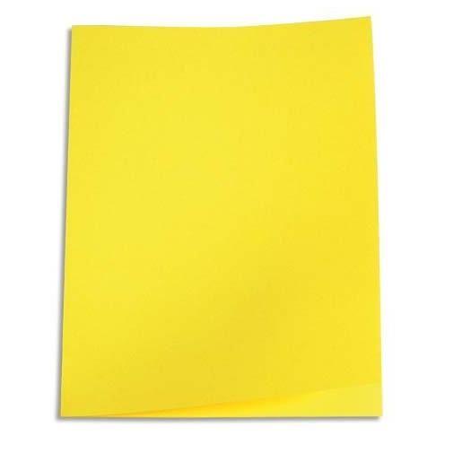Chemises carte recyclée 180 grammes coloris jaune - Paquet de 100